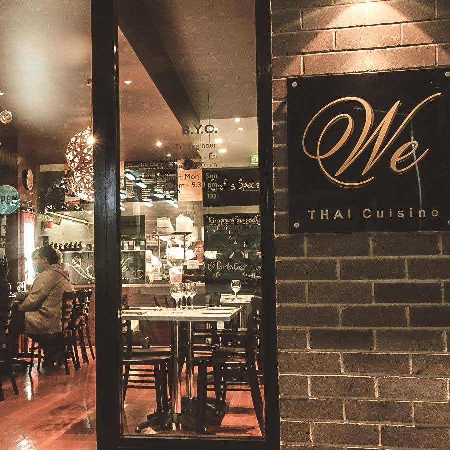 We Thai Cuisine restaurant has a relaxed setting and a friendly atmosphere. Seating 30-35 people we are suitable for families, groups of friends as well as parties.